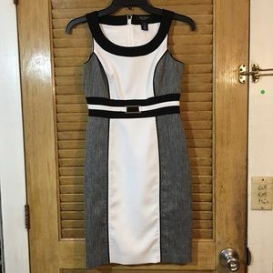White House/Black Market Colorblock Sheath Dress